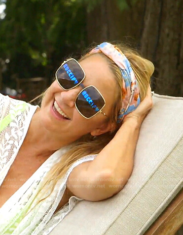 Kary's square sunglasses on The Real Housewives of Dallas