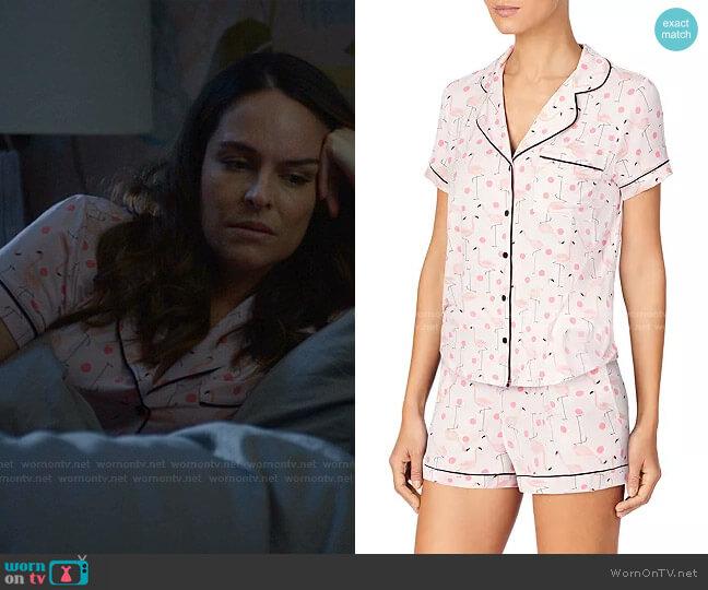 Short Pajama Set in Flamingo by Kate Spade worn by Isabella Colón (Yara Martinez) on Bull