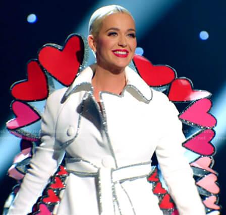 Katy's heart embellished dress on American Idol