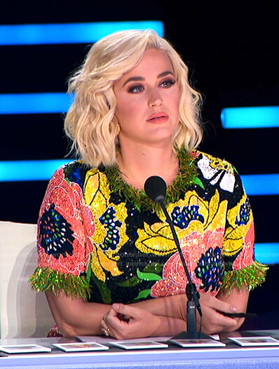 Katy's sequin floral dress on American Idol