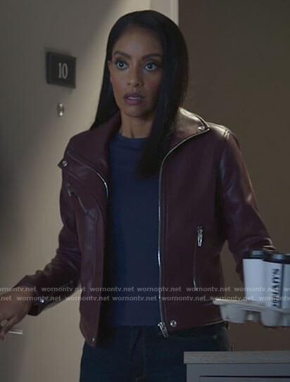 Kelly's purple leather jacket on Supergirl
