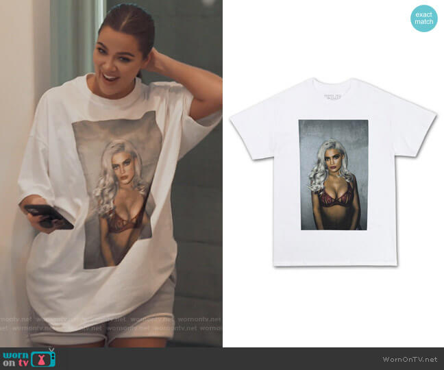 Kyle Jenner Graphic Tee by Kylie Jenner worn by Khloe Kardashian  on Keeping Up with the Kardashians