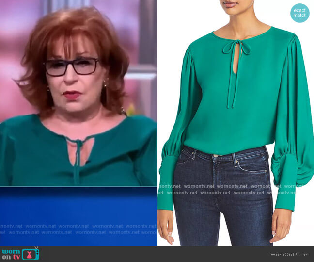 Izabel Blouse by Lafayette 148 New York worn by Joy Behar  on The View