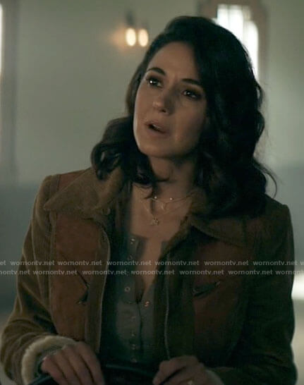 Lana's corduroy and suede jacket on Superman and Lois