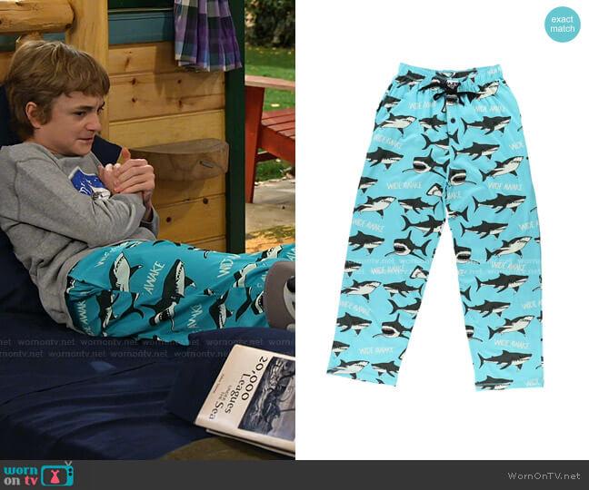 Wide Awake Shark PJ Pant by Lazy One worn by Finn Sawyer (Will Buie Jr) on Bunkd