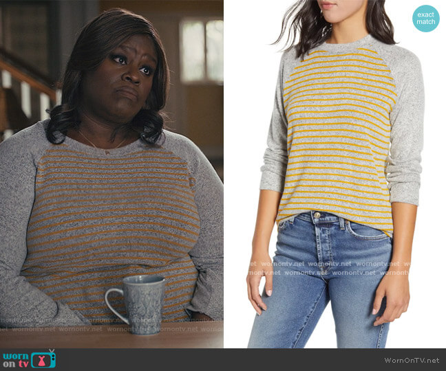 Raglan Sweater Loveappela worn by Ruby Hill (Retta) on Good Girls