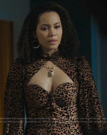 Macy's leopard print dress on Charmed