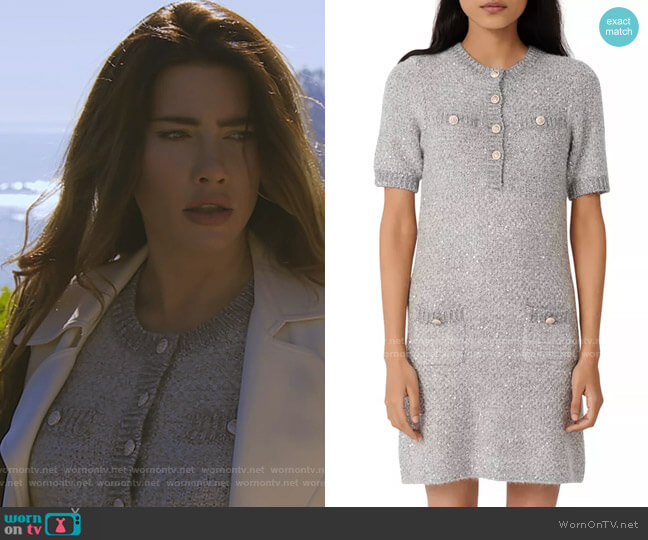 Maje Raveno Dress worn by Steffy Forrester (Jacqueline MacInnes Wood) on The Bold & the Beautiful