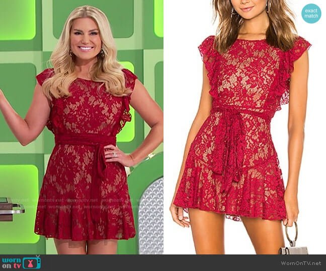 Majorelle Marnie Lace Dress worn by Rachel Reynolds  on The Price is Right