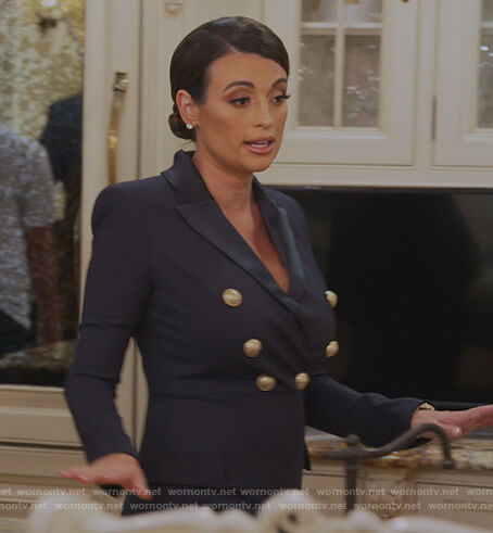 Michelle's double breasted blazer jumpsuit on The Real Housewives of New Jersey