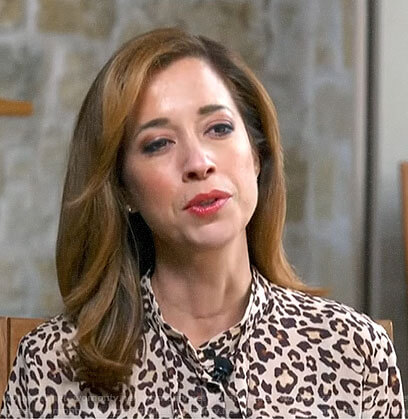 Mireya Villarreal's leopard print blouse on CBS This Morning