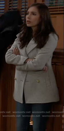 Molly's gray peacoat on General Hospital