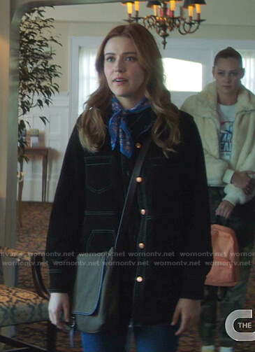 Nancy's green jacket on Nancy Drew