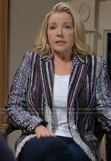 Nikki's embellished blazer on The Young and the Restless