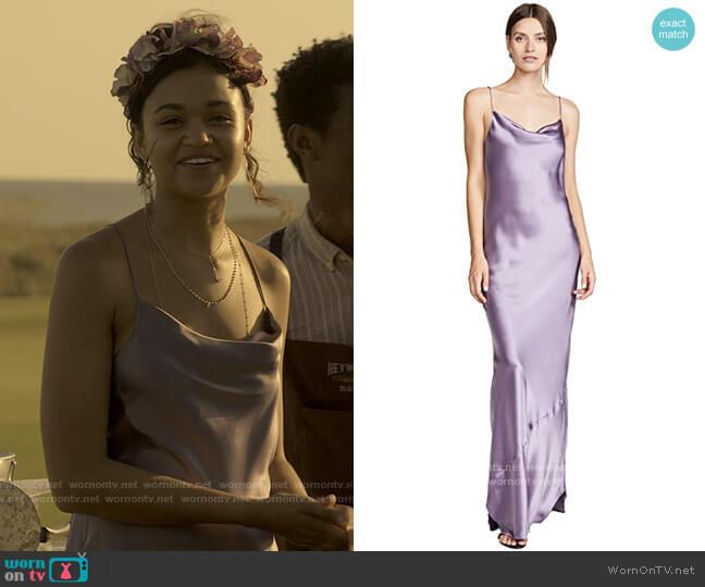 Nili Lotan Juella Gown worn by Kiara Carrera (Madison Bailey) on Outer Banks