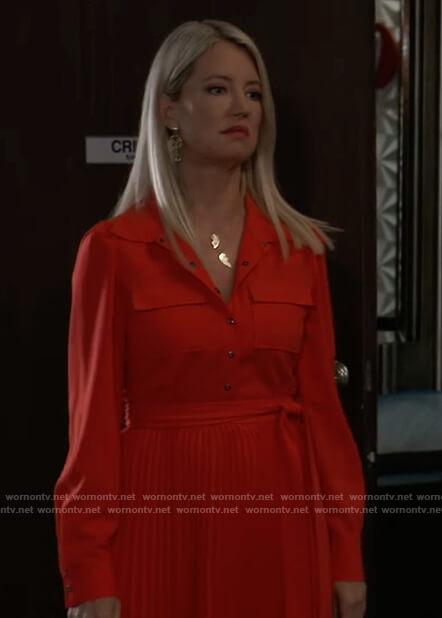 Nina's red shirtdress on General Hospital