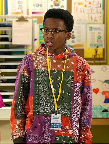 Noah's bandana hoodie on Bunkd
