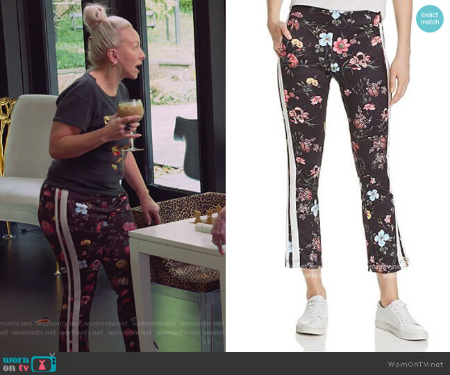 Fineline Floral Track Pants by Pam & Gela worn by Margaret Josephs  on The Real Housewives of New Jersey