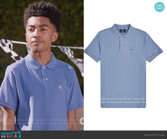 Classic Solid Pima Cotton Men's Polo by Psycho Bunny worn by Jack Johnson (Miles Brown) on Blackish
