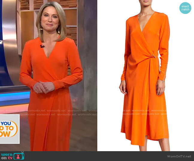Odette Dress by Rag and Bone worn by Amy Robach  on Good Morning America