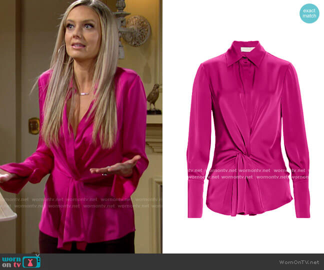Ramy Brook Maxwell Blouse worn by Abby Newman (Melissa Ordway) on The Young & the Restless