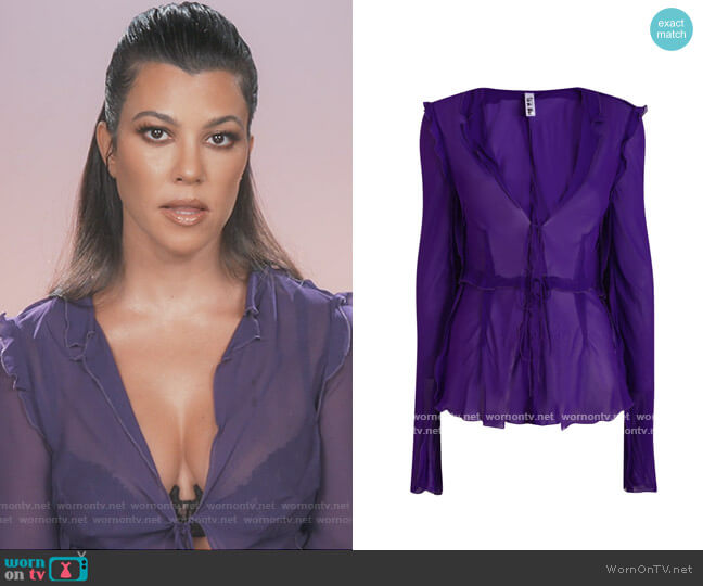Aphrodite Blouse by Rat and Boa worn by Kourtney Kardashian  on Keeping Up with the Kardashians