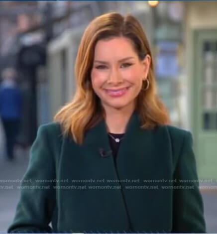 Rebecca's green wrap coat on Good Morning America