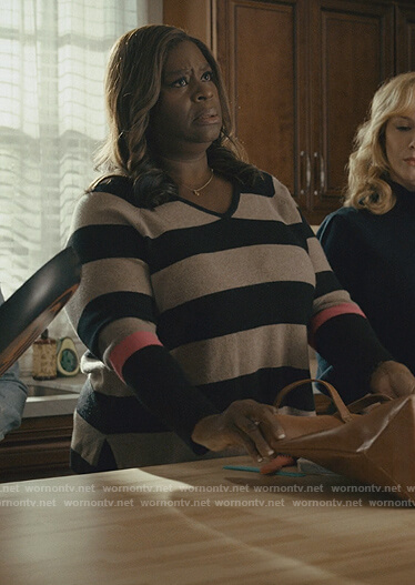 Ruby's striped sweater on Good Girls