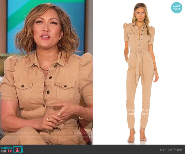 Tori Jumpsuit by Retrofete worn by Carrie Inaba  on The Talk