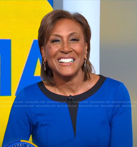 Robin's black and blue dress on Good Morning America
