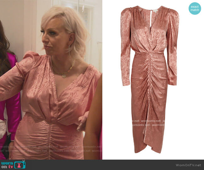Astrid Jacquard Dress by Ronny Kobo worn by Margaret Josephs  on The Real Housewives of New Jersey