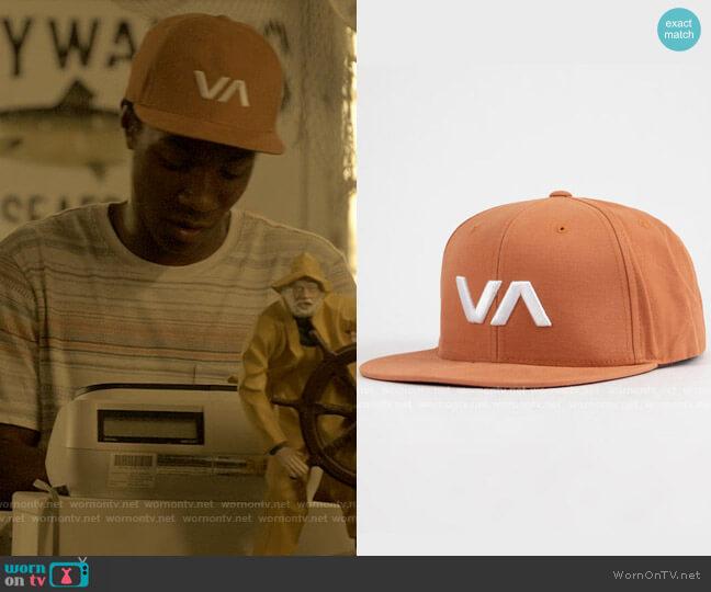RVCA Brick VA Snapback Hat worn by Pope (Jonathan Daviss) on Outer Banks