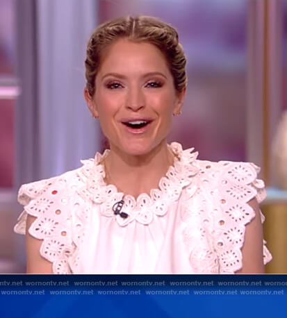 Sara's white eyelet top on The View