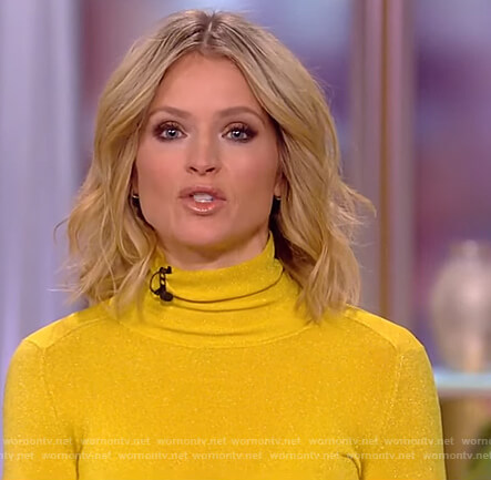 Sara's yellow turtleneck top on The View