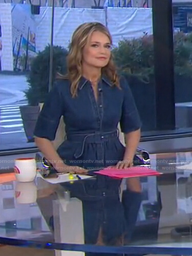 Savannah's belted denim dress on Today