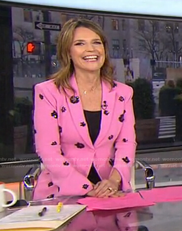 Savannah's pink floral blazer on Today
