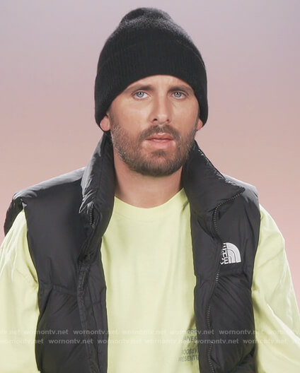 Scott's black puffer vest on Keeping Up with the Kardashians