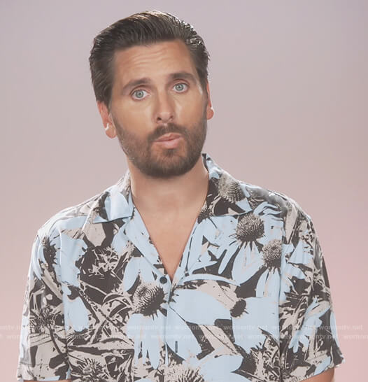 Scott's blue floral confessional shirt on Keeping Up with the Kardashians