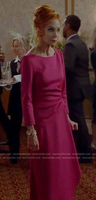 Sheila's pink dress on Call Me Kat