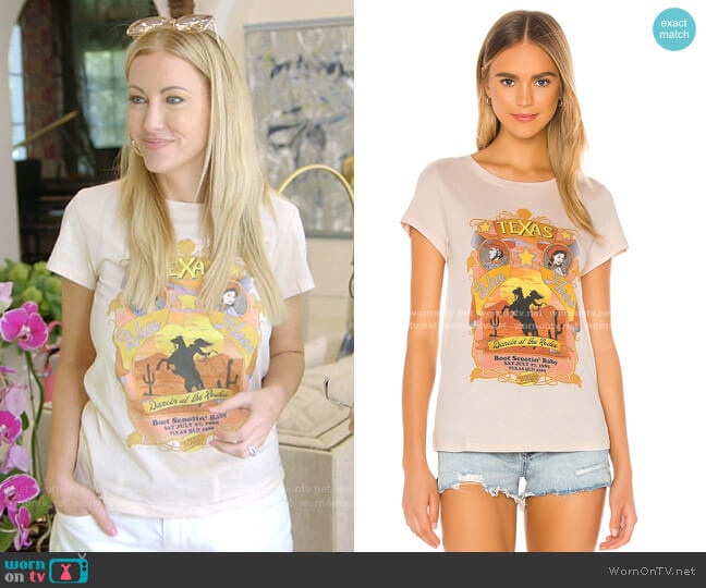 Texan Blue Moon Girlfriend Tee by Spell worn by Stephanie Hollman  on The Real Housewives of Dallas
