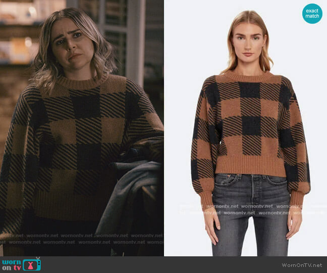 Plaid Cashmere Pullover by Splendid worn by Annie Marks (Mae Whitman) on Good Girls