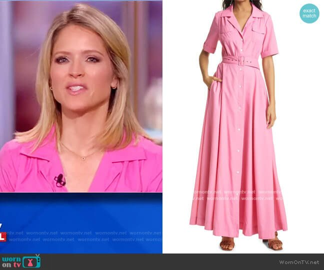Millie Maxi Dress by Staud worn by Sara Haines  on The View