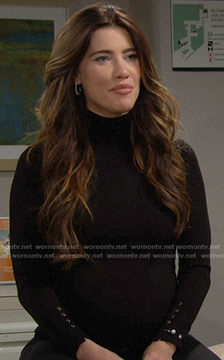Steffy's black turtleneck on The Bold and the Beautiful