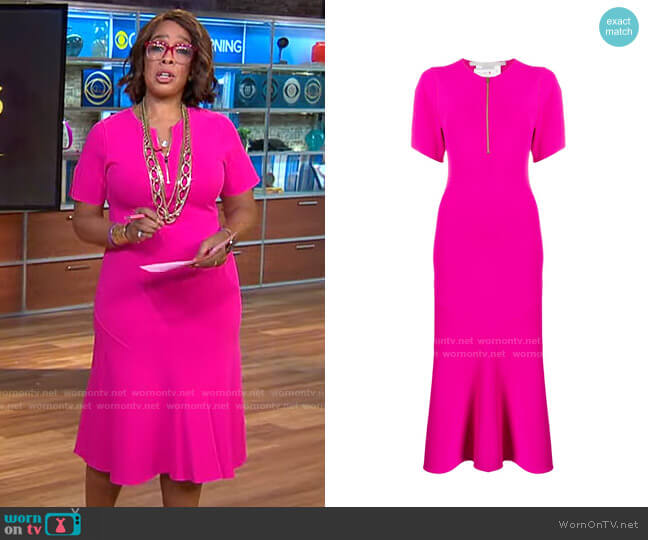 Stella McCartney Compact Knit Dress worn by Gayle King  on CBS This Morning