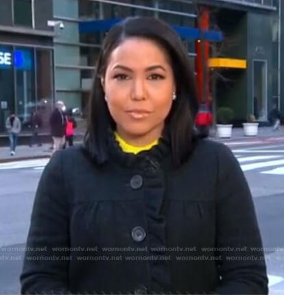 Stephanie Ramos's black ruffle jacket on Good Morning America