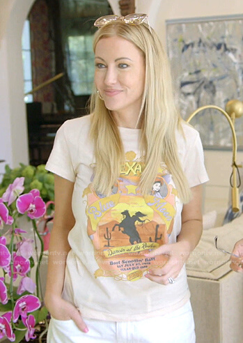 Stephanie's Texas print tee on The Real Housewives of Dallas