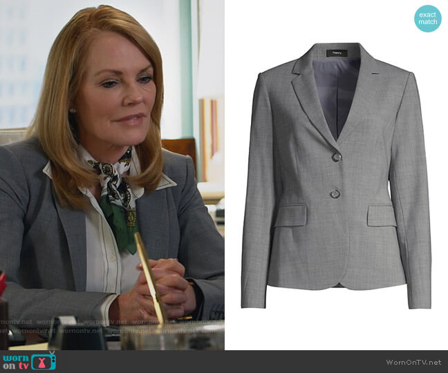 Staple Blazer by Theory worn by Lisa Benner (Marg Helgenberger) on All Rise