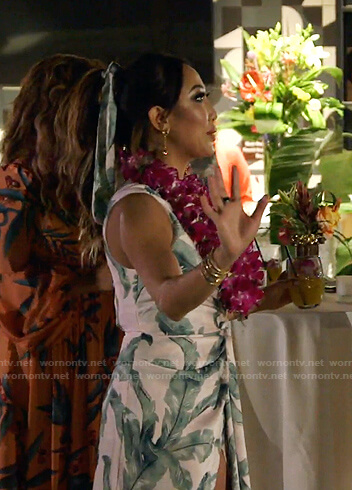 Tiffany's tropical print dress on The Real Housewives of Dallas