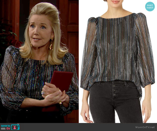 Trina Turk Finish Top worn by Nikki Reed Newman (Melody Thomas-Scott) on The Young & the Restless