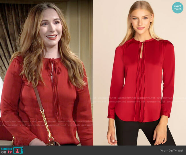 Trina Turk Network Top worn by Mariah Copeland (Camryn Grimes) on The Young & the Restless